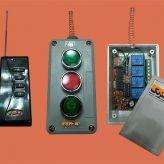 فرستنده وگیرنده های ۲کانال،۴کانال،۶کانال و ۱۲ کانال مناسب کنترل درب مغازه و پارکینگ و مجتمع های ساختمانی